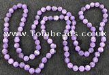 CGN1000 8mm round matte amethyst 108 beads mala necklaces