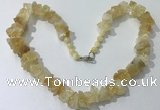 CGN159 18.5 inches 12*16mm - 13*18mm nuggets citrine necklaces