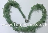 CGN389 23 inches chinese crystal & green aventurine beaded necklaces