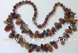 CGN530 19.5 inches chinese crystal & mixed gemstone beaded necklaces