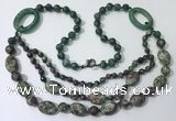 CGN604 23.5 inches imitation ruby zoisite gemstone beaded necklaces