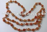 CGN654 22 inches chinese crystal & striped agate beaded necklaces