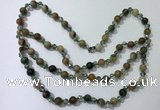 CGN657 22 inches chinese crystal & striped agate beaded necklaces