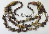 CGN675 22 inches stylish mookaite gemstone beaded necklaces