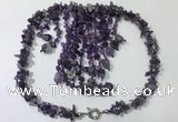 CGN826 20 inches stylish amethyst gemstone statement necklaces