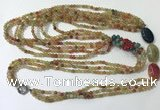 CGN851 30 inches trendy agate long beaded necklaces