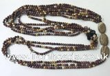 CGN853 30 inches trendy mookaite long beaded necklaces