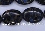 CGO210 15.5 inches 18*25mm oval gold blue color stone beads