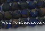 CGO261 15.5 inches 6mm round matte gold multi-color stone beads