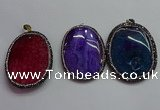 CGP1548 40*55mm - 45*60mm oval agate pendants wholesale