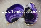 CGP2013 30*50mm - 50*80mm freeform agate slab pendants wholesale