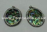 CGP309 35*45mm oval abalone shell pendants wholesale