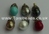 CGP329 15*25mm - 15*30mm teardrop pearl shell pendants wholesale