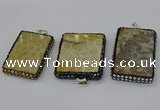CGP3423 35*60mm - 40*50mm rectangle fossil coral pendants