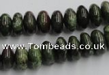 CGR05 16 inches 6*12mm rondelle green rain forest stone beads wholesale