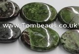 CGR12 16 inches 22*30mm oval green rain forest stone beads wholesale