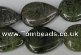CGR25 15.5 inches 18*25mm flat teardrop green rain forest stone beads
