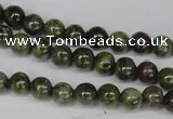 CGR42 15.5 inches 4mm round green rain forest stone beads wholesale