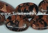 CGS213 15.5 inches 18*25mm oval blue & brown goldstone beads wholesale