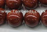 CGS308 15.5 inches 20mm round natural goldstone beads