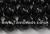 CGS404 15.5 inches 12mm round green goldstone beads wholesale