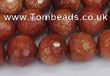 CGS474 15.5 inches 12mm faceted round goldstone beads wholesale