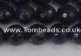 CGS481 15.5 inches 10mm faceted round blue goldstone beads