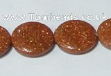 CGS76 15.5 inches 20mm coin goldstone beads wholesale
