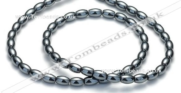 CHE01 16 inches 4*6mm rice shape hematite beads Wholesale