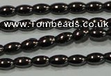 CHE136 15.5 inches 3*5mm rice hematite beads wholesale