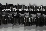 CHE241 15.5 inches 8*8mm tower hematite beads wholesale