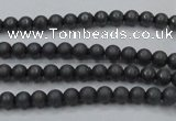 CHE400 15.5 inches 2mm round matte hematite beads wholesale
