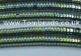 CHE665 15.5 inches 1*4mm tyre plated hematite beads wholesale