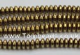 CHE729 15.5 inches 2*4mm rondelle plated hematite beads wholesale