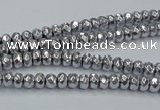 CHE731 15.5 inches 2*3mm faceted rondelle plated hematite beads