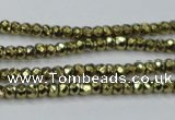 CHE736 15.5 inches 2*3mm faceted rondelle plated hematite beads