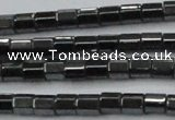 CHE885 15.5 inches 2*2mm faceted tube hematite beads wholesale