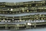 CHE913 15.5 inches 1*2mm hexagon plated hematite beads wholesale