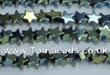 CHE950 15.5 inches 6mm star plated hematite beads wholesale