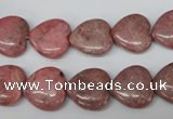 CHG42 15.5 inches 14*14mm heart rhodochrosite beads wholesale