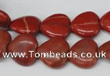 CHG49 15.5 inches 14*14mm heart red jasper beads wholesale