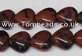 CHG51 15.5 inches 14*14mm heart mahogany obsidian beads wholesale
