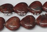 CHG73 15.5 inches 18*18mm heart brecciated jasper beads wholesale