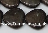 CHG85 15.5 inches 25*25mm heart purple aventurine beads wholesale
