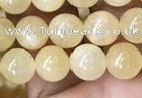 CHJ11 15.5 inches 6mm round honey jade beads wholesale