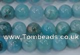 CHM202 15.5 inches 8mm round blue hemimorphite beads wholesale