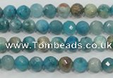 CHM210 15.5 inches 4mm faceted round blue hemimorphite beads