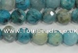 CHM213 15.5 inches 10mm faceted round blue hemimorphite beads
