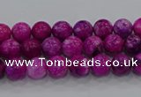CHM228 15.5 inches 4mm round dyed hemimorphite beads wholesale