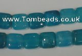 CHM25 15.5 inches 10*10mm square blue hemimorphite beads wholesale